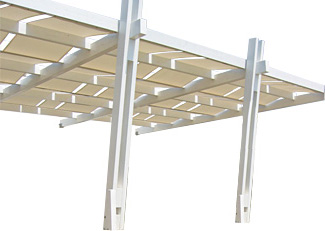 Bazar141 legno pergole con teli a onda - Pergolati in legno autoportanti ...